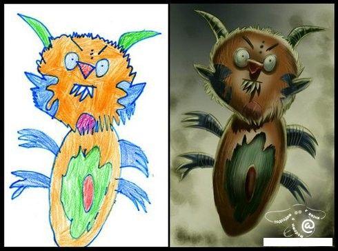 Обработка детских рисунков