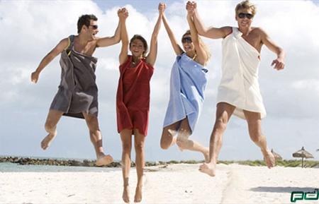 Креативные полотенца для пляжа.