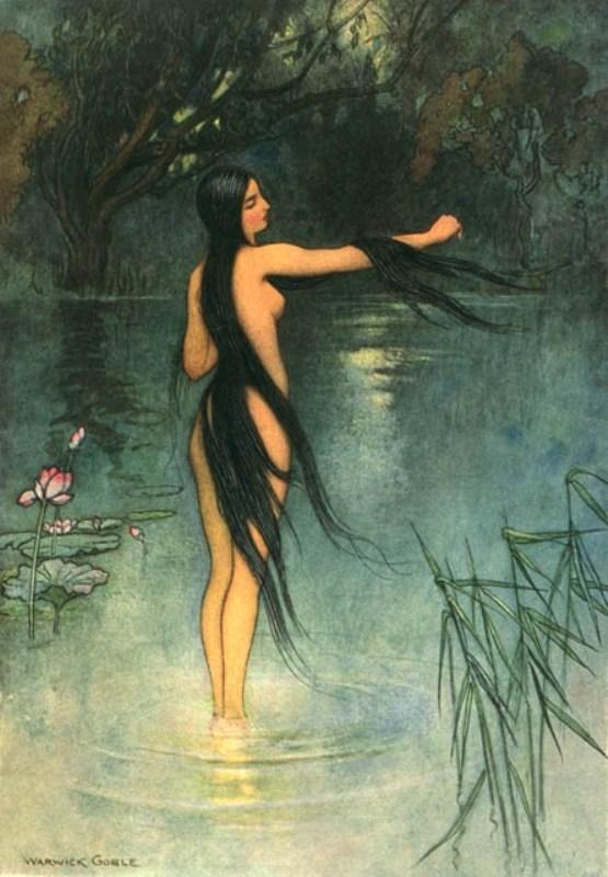 Образы женщин от Warwick Goble.