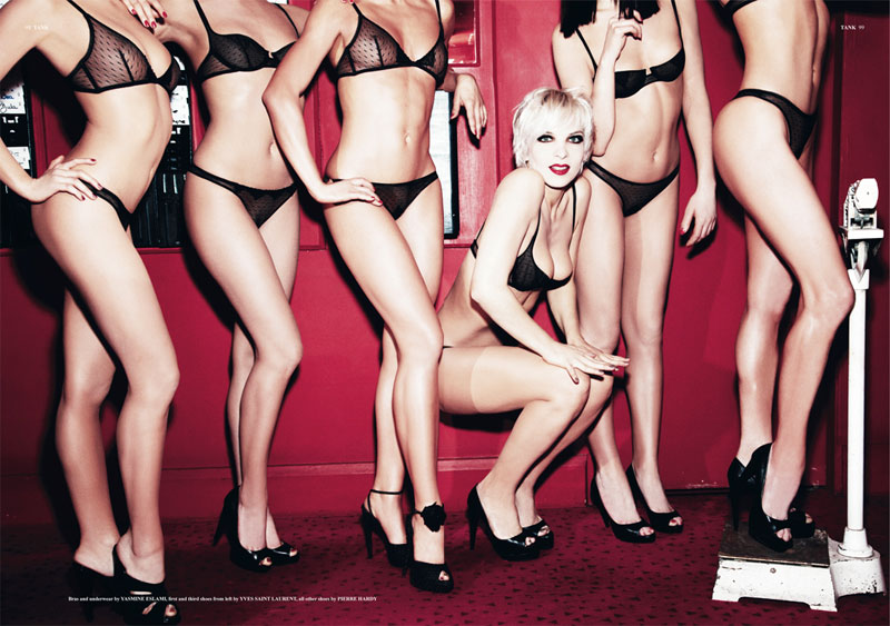 Ali Mahdavi & The Girls of Crazy Horse by Ellen von Unwerth for Tank Summer 2015