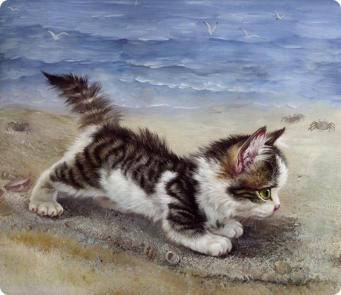 Котята в живописи.