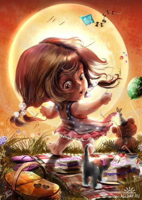 Художница иллюстратор Cris de Lara.