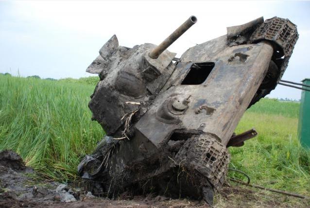 Подъем танка Т-34