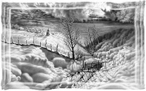 Зима в образе художника Гурам Доленджашвили.