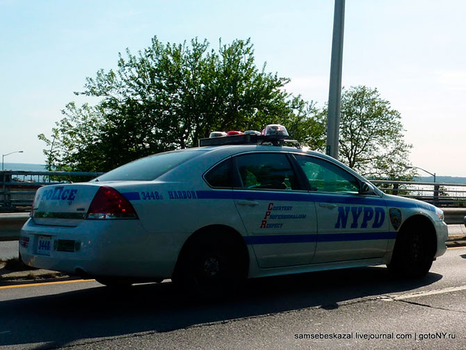 Машина в  Нью-Йоркской полиции.