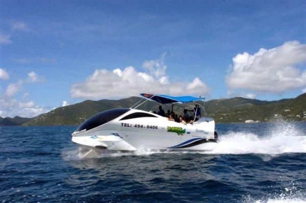 Прикольная туристическая лодка