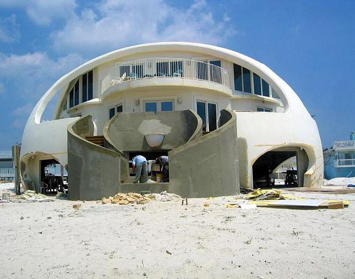 Китайцы решили построить хату в виде человеческой головы