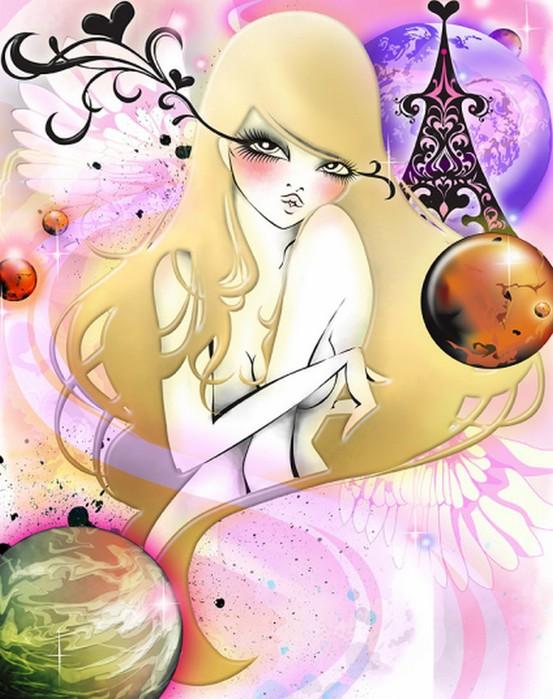 Японская девушка-иллюстратор Saeko Ozaki.