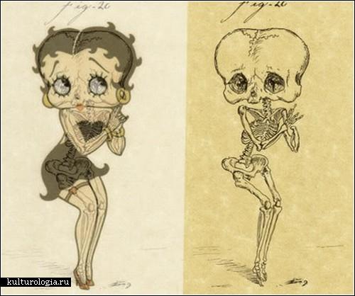 Скелетики мультяшных героев