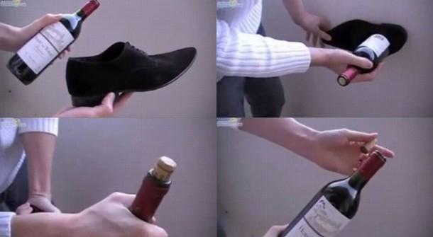 Открываем бутылку вина без штопора