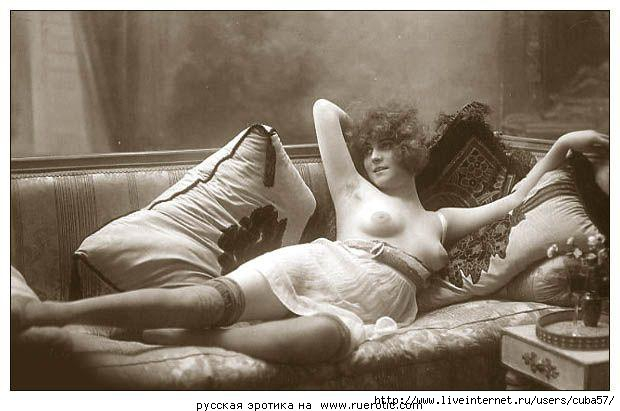 Искусство в эротических ретро открытках.