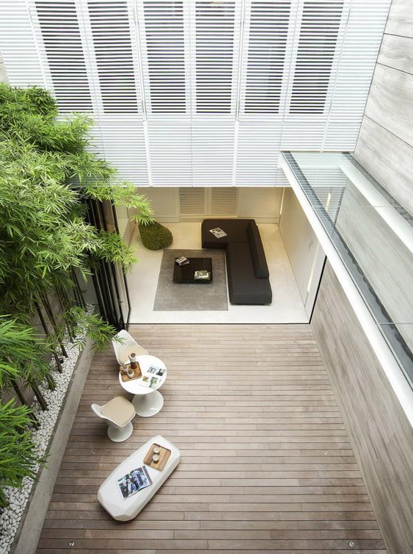 Дом в стиле минимализма на Blair Road в Сингапуре.