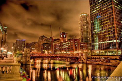 Чикаго ночью