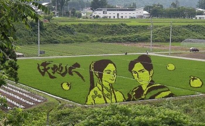 Рисунки на полях в образе нового Японского искусства.