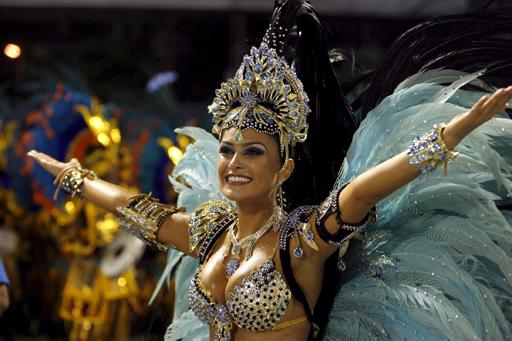 Бразильский Карнавал в Рио 2015 года.