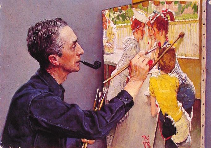 Американский художник Norman Rockwell.