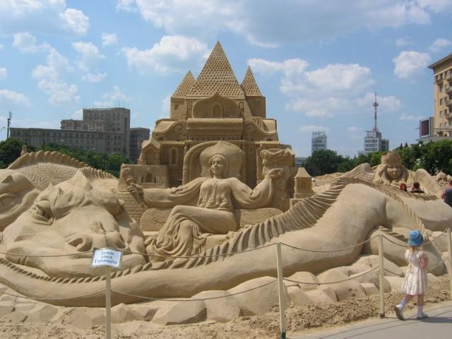 Город из песка в Харькове