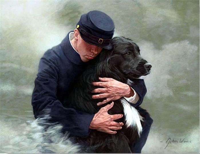 Человек собаке друг! Это знают все....и John Weiss.