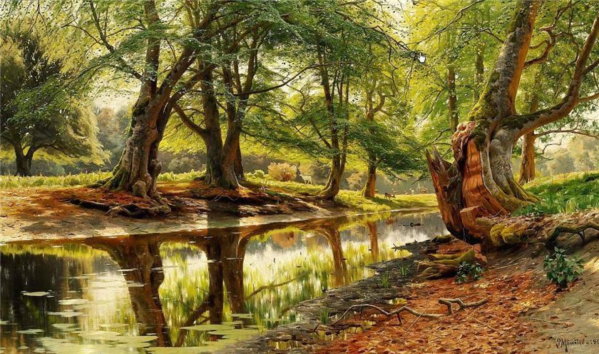 Пейзажи датского художника Peder Monsted.
