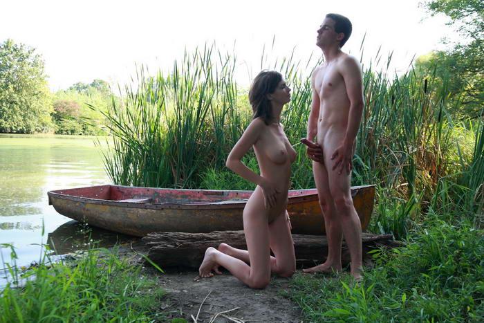 голые пары на природе фото