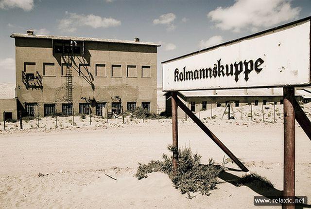Заброшенный город Колманскоп в Намибии