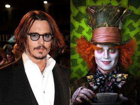 Актеры,под лицами знаменитых персонажей.
