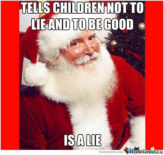 Забавный Санта)